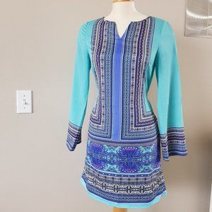 The Limited, Border Printed Shift Dress, Sz S